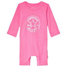 Pink Hologram Chuck Patch Footless Babygrow3-6 months