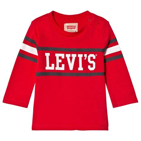 Red Logo Long Sleeve Tee6 months