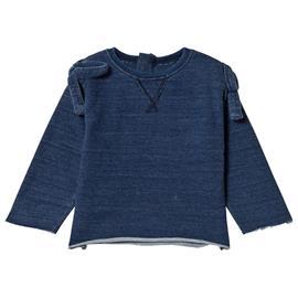 Pitkähihainen T-paita Rusetilla Indigo68/74