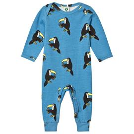 Cendre Blue Long Sleeve Multi Toucans Print Footless Babygrow80 cm