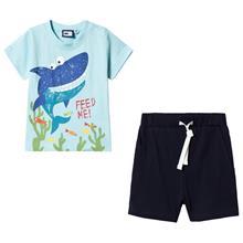T-paita ja Shortsit setti Sininen68 cm