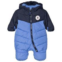 Blue Two Tone Branded Snowsuit0-3 months
