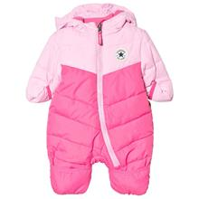 Pink Two Tone Branded Snowsuit0-3 months