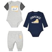 Grey & Navy Branded 2 Bodies & Joggers Set0-3 months
