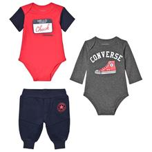 Navy & Red Branded 2 Bodies & Joggers Set0-3 months