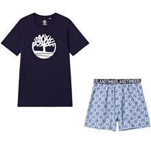 Logo T-paita Shortsit Pyjamasetti Navy-sininen2 years