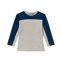 Raidallinen T-paita harmaameleerattu/sininen92/98 cm