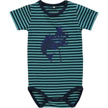 Lyhythihainen body, Trio, Baby, Maui Blue68 cm