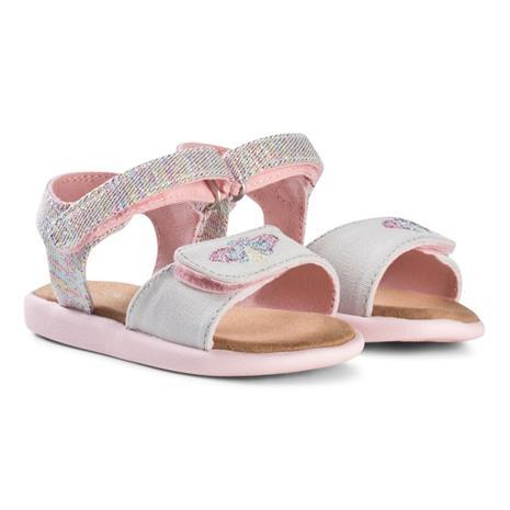 Multi Twill Glimmer Strappy Velcro Sandaalit Vaaleanpunainen21 (UK 4)