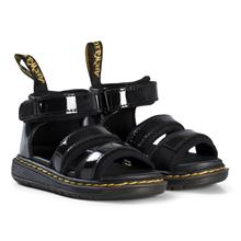 Black Patent Marable Sandals30 (UK 11.5)