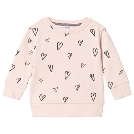 Basic Sweater Sydän Haaleanpunainen4 v