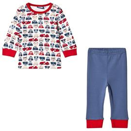 Pyjamasetti Valkoinen/Sininen68 cm