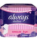 Always Singles To Go Normal 20 kpl pikkuhousunsuoja