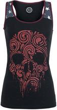 RED by EMP Melting Skull Naisten toppi musta-punainen