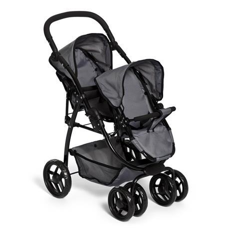 Dolls Twin Doll stroller Grey