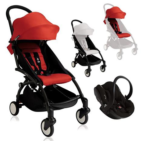 YOYO+ Red Stroller and Carseat Package
