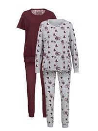 Pyjama Simone viininpunainen/meleerattu harmaa34264/80X