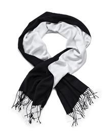 Huivi Alba Moda musta/valkoinen09915/00X