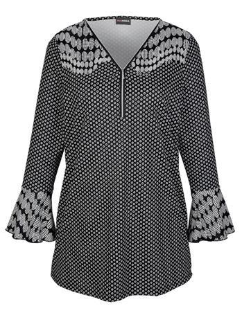 Volankihihainen paita MIAMODA musta/valkoinen36201/80X
