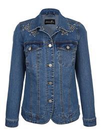 Applikoitu farkkutakki Dress In blue bleached35571/50X