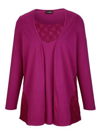 Kerrostyylinen paita MIAMODA magenta40073/50X