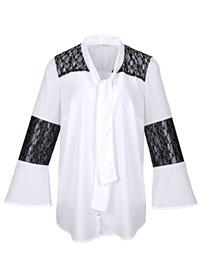 Huivikauluspusero MIAMODA valkoinen/musta36227/30X