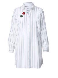 Pitkä raidallinen paitapusero Angel of Style luonnonvalkoinen/minttu36278/60X