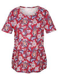 Paisley-kuosinen paita MIAMODA punainen/monivärinen37613/30X