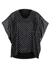 Kaftaanityylinen paita MIAMODA musta/hopeanvärinen37656/20X