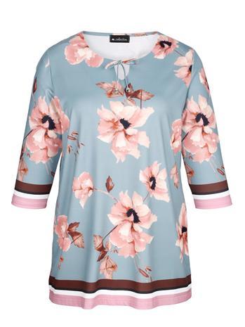 Pitkähelmainen kukkapaita m. collection vaaleansininen/roosa/monivärinen36804/90X