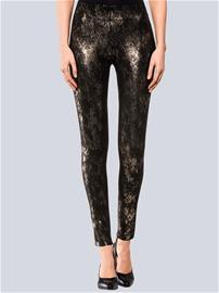 Metallinhohtoiset leggingsit Alba Moda Kulta44545/80X