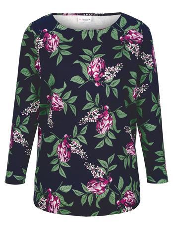 Kukkakuvioitu paita MIAMODA laivastonsininen42079/00X