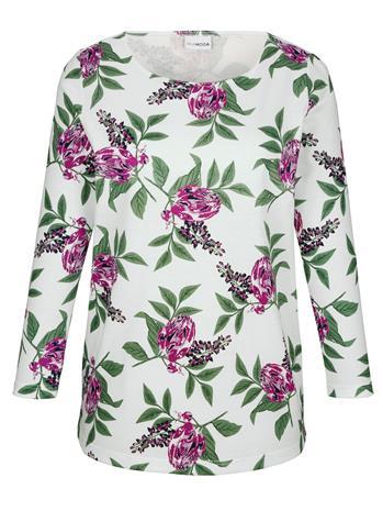 Kukkakuvioitu paita MIAMODA kerma42084/00X