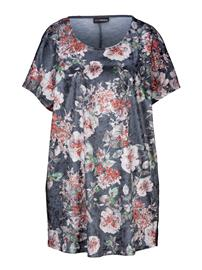 Pitkähelmainen paita MIAMODA harmaa/monivärinen42088/10X