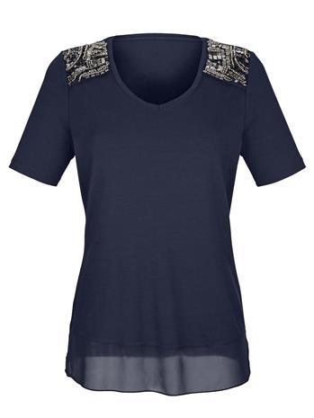 Paljettikoristeltu paita AMY VERMONT Laivastonsininen52072/20X