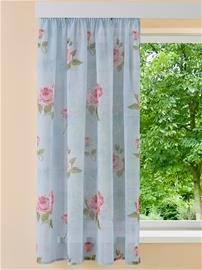 Ruusukuvioitu sivuverho 'Rosi' Home Wohnideen minttu50885/90X