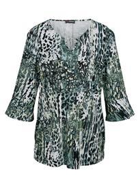 Painokuvioitu paita MIAMODA vihreä53010/10X