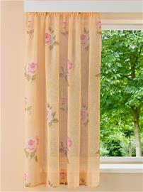 Ruusukuvioitu sivuverho 'Rosi' Home Wohnideen terrakotta50880/00X