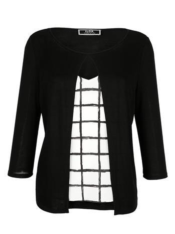 Paita Alba Moda musta/valkoinen55972/00X
