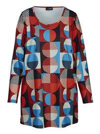 Retrokuosinen paita MIAMODA punainen/sininen58302/70X