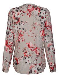 Kuvioitu pusero Alba Moda harmaanruskea/monivärinen57627/80X