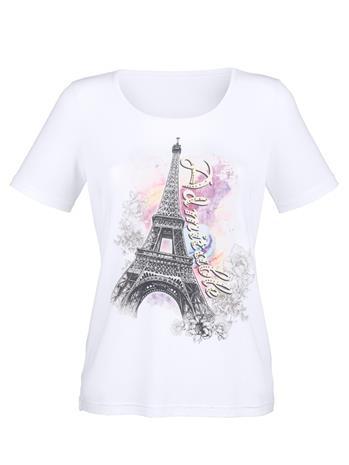 Eiffeltorni-printillinen T-paita AMY VERMONT ecru/monivärinen57367/10X