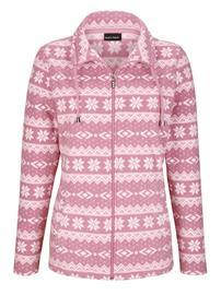 Talvinen fleecetakki Laura Kent vanharoosa/ecru73128/70X