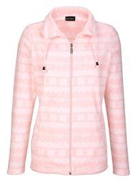 Talvinen fleecetakki Laura Kent roosa/ecru49039/70X