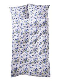 """Kukkakuvioinen pussilakanasetti """"Nina"""" Castell sininen80753/30X"""