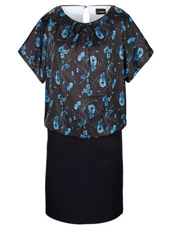 Kaksiosaiselta näyttävä mekko MIAMODA Petroli64176/70X