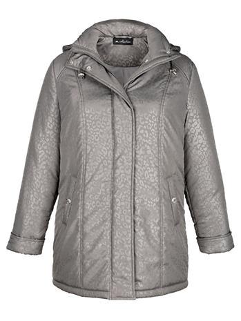 Hupullinen takki m. collection Harmaa39284/10X