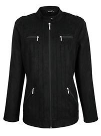 Laserkuvioitu takki Dress In Musta39819/40X