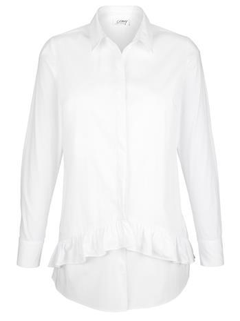 Röyhelöpusero AMY VERMONT Valkoinen74479/30X, Naisten paidat, puserot, topit, neuleet ja jakut