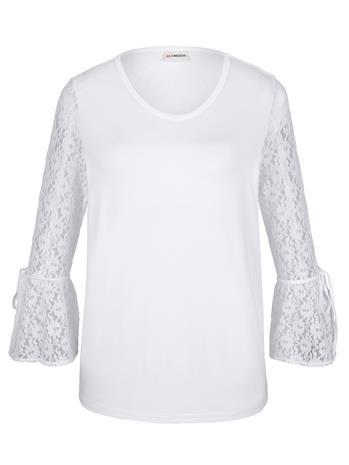 Pitsihihainen paita MIAMODA Valkoinen48286/50X